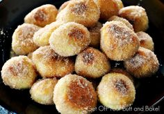 EASY PRETZEL BITES – The secret is Rhodes roll dough!!   Parmesan, Cinnamon Sugar or with dipping glaze....incredible!!