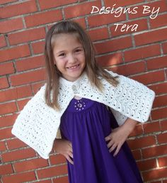 $3.99 - Callie Girls Cape -Crochet Pattern PDF - Instant Download | etsy shop: cutecraftycrochet