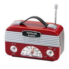 Rádio AM/FM Vintage Vermelho - R$99.80
