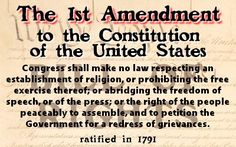 1st Amendment to the U.S. Constitution. How much will it cost you, not to know?
