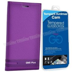General Mobile GM 5 Plus Kapaklı Kılıf Mor + Kırılmaz Cam -  - Price : TL33.90. Buy now at http://www.teleplus.com.tr/index.php/general-mobile-gm-5-plus-kapakli-kilif-mor-kirilmaz-cam.html