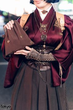 """tokyo-fashion: """"Liz and Bishoujo wearing Japanese steampunk fashion on the street in Harajuku. Full Looks """" Mode Outfits, Fashion Outfits, Womens Fashion, Fashion Sets, Modest Fashion, Hijab Fashion, Mode Chanel, Look Fashion, Fashion Design"""