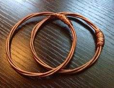 Copper Bracelet Upcycled From Piano String by PianoCrafts on Etsy