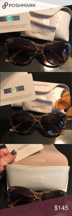 4ef71f2fd4e Valentino NWT Gorgeous Gold Black Sunglasses Valentino Brand new with tags  stunning gold and black