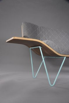 Ames Seat, a sofa with wood and steel, created by Ben Pedrick a young design student. Raw Furniture, Design Furniture, Sofa Design, Interior Design, Sofa Inspiration, Take A Seat, Cool Chairs, Lounge, Sofa Set