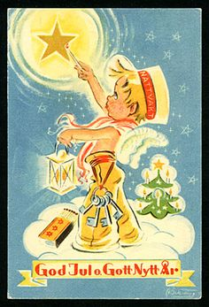 Astrid Österling Merry Christmas And Happy New Year, Christmas Greetings, Candels, Little Boys, Illustration, Museum, Vintage, The Originals, Stars