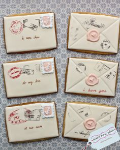 French love letter cookies
