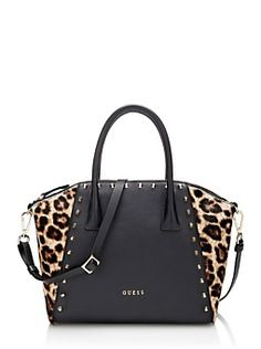 8995d1e7ef Guess - Savvy leather Bag with animal print Guess Bags