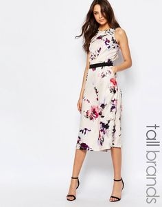 c7a71e4477a Little Mistress Tall Floral Printed Culotte Jumpsuit at asos.com