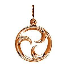 Small Circle Maori Tri Koru New Beginnings Charm with Three Curls in 14k Pink Gold *** Check this awesome product by going to the link at the image.