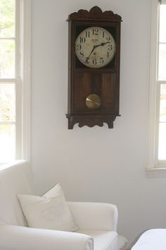 gorgeous clock on a crisp wall