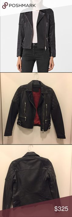 Allsaints winter leather A little bit heavier but perfect for fall and winter, with lovely redline. I just bought a Vfiles leather want to get rid of this one. Price is negotiable All Saints Jackets & Coats