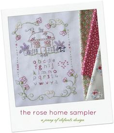 Looking for your next project? You're going to love Rose House Sampler - stitchery  pattern by designer Jenny of Elefantz.