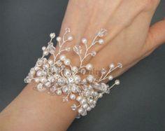 bridal cuff bracelet – Etsy