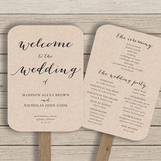 28 Best Fan Wedding Programs Images On Pinterest Diy Wedding