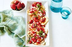 BBQ haloumi with strawberry salsa