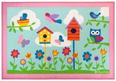Baby Nursery Area Rug Wildkin Olive Kids Birdie Design 5 ft x 7 ft Scrapbook Sketches, Scrapbook Page Layouts, Kids Scrapbook, Scrapbook Cards, School Scrapbook, Nursery Area Rug, Book Libros, Treasure Boxes, Box Design