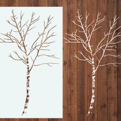 Birch Tree Stencil 6 Ft now featured on Fab.
