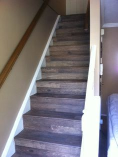 Shaw reclaimed cottage laminate installed by Derrick Harvey