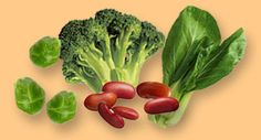 """Calcium: The most healthful calcium sources are green leafy vegetables and legumes, or """"greens and beans"""" for short."""