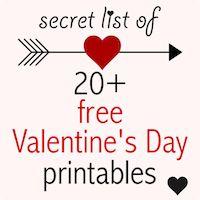 Secret list of free printable valentines - valentine printables - Valentine's Day Downloads | MeinLilaPark – DIY printables and downloads