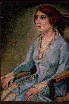 Dama de Azul (1925), de Anita Malfatti