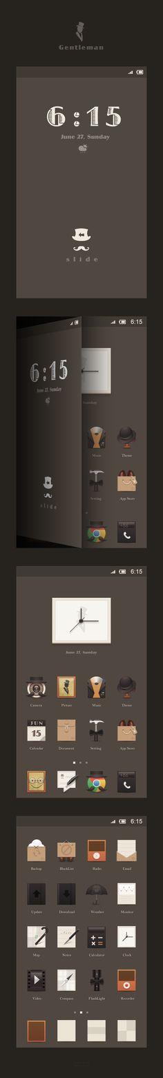Gentleman theme #ui #icons
