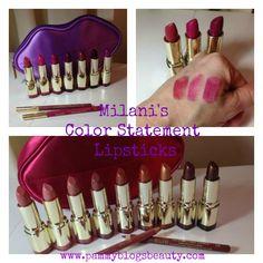 Milani's Color Statement Lipsticks http://www.pammyblogsbeauty.com