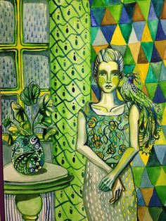 Caroline Cimen - green room