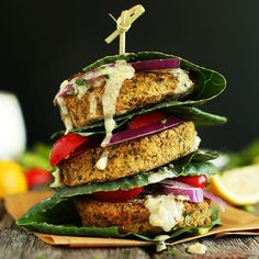 Simple, 7 ingredient falafel burgers! Flavorful, healthy and both vegan and gluten free! Serve on pita, greens, or a salad!