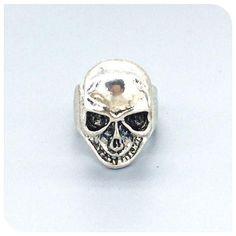 Stainless Steel Skull Ring Size 9