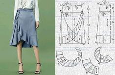 Sewing Pattern Womens Wrap Skirt Pattern Misses Wrap Skirt Skirt Patterns Sewing, Clothing Patterns, Coat Patterns, Blouse Patterns, Fashion Sewing, Diy Fashion, Moda Fashion, Sewing Clothes, Diy Clothes