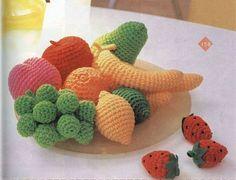 Coisas Que Gosto de Tudo Um Pouquinho !: Frutinhas de Crochê
