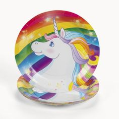 Unicorn Rainbow Dessert Plates (8 pc):Amazon:Toys & Games