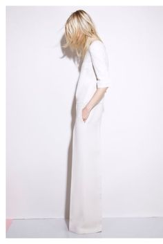 Total look white - wide legged pants