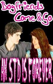 (c53) Poster #244- STD Poster; High School Health Prevention, Girls