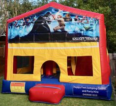 We offer free delivery within a radius of Cooroy & provide quality jumping castles to Gympie Council and Sunshine Coast Council residents. Party Hire, Obstacle Course, Basketball Hoop, Sunshine Coast, Sun Protection, Castles, Star Wars, Book, Happy