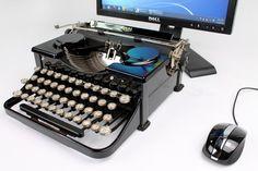 USB Typewriters-- vintage typewriters modified into computer keyboards.