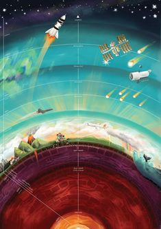 Earth And Space Science, Earth From Space, Science Art, Science Projects, Science And Nature, Science Posters, Layers Of Atmosphere, Earth Layers, Earth Poster