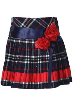 85c9c4f461 Cutecumber offers this navy blue coloured, chequered skirt that will make  your little doll look