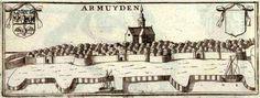 Gezicht op Arnemuiden door Vincenzo Coronelli (1650-1718)  Vincenzo Maria (Padre) Coronelli was een Franciscaner priester die het grootste deel van zijn leven in Venetie verbleef. Hij was een bekend theoloog en werd in 1699 als Padre General van zijn orde benoemd. Op dat moment was hij al beroemd als mathematicus, cartograaf en globemaker.