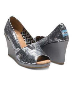 Love this Pewter Sequin Wedge on #zulily! #zulilyfinds. I have these and they are soooooo comfy. I need another pair