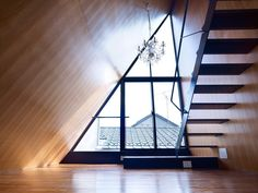 zyx house - Tokyo-based Naf Architect & Design are at it again with an amazing residential space design entitled 'ZYX House.' The ZYX House is a priva. Architecture Details, Interior Architecture, Wooden Architecture, Attic Inspiration, Modern Japanese Architecture, Interior Decorating, Interior Design, Loft Spaces, House Roof