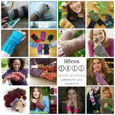 15 #free #crochet patterns for your hands and arms, mittens, fingerless gloves, wrist cuffs and wristers.  great for craft fairs!