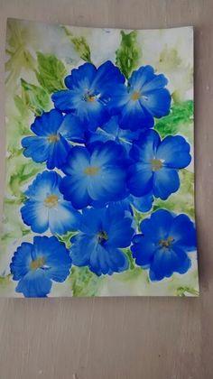 Blue one stroke flowers practice piece