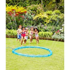 Perfect for a warm and sunny day in the garden, the water sprinkler is a big inflatable ring that sprays water in all directions- can you jump into the middle without getting soaked? Brilliant for encouraging active play, the water sprinkler is great fun Garden Power Tools, Water Sprinkler, Garden Yard Ideas, Backyard Ideas, Water Toys, Yard Design, Garden Toys, Garden Accessories, Outdoor Fun