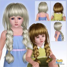 Huge and messy braid hairstyle ID 552 by Peggy Zone  for Sims 3 - Sims Hairs - http://simshairs.com/huge-and-messy-braid-hairstyle-id-552-by-peggy-zone/