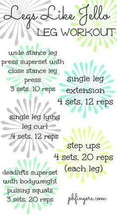 Legs Like Jello Workout - LOVE her blog Peanut Butter Fingers...