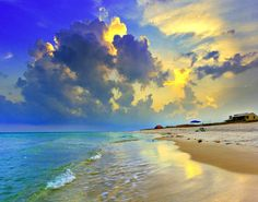 Beach, sunset,.Tips On Painting Great Clouds in Oil or Acrylic http://www.youtube.com/watch?v=hZAwkfenHPk