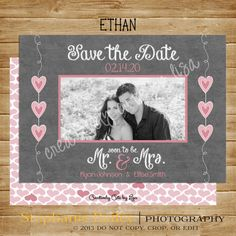 Save the Date Photo Card 5x7 PRINTABLE by CreativelyCutebyLisa, $6.75